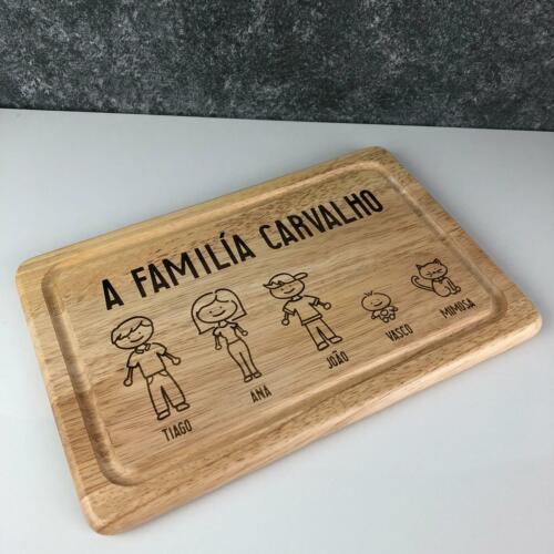 Personnalisé à découper planche Portrait de famille Anniversaire Fête des Pères Cadeau Souvenir