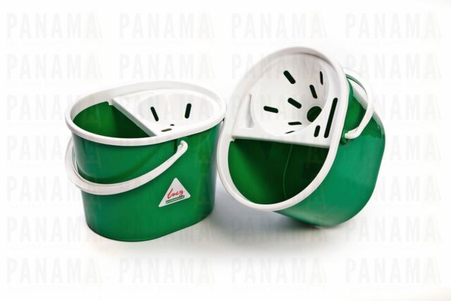 SYR Lucy Oval Green Mop Bucket c/w Sieve 7ltr x2 (L1405293)