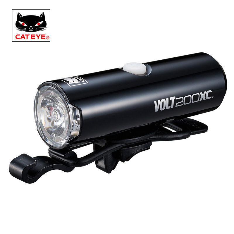 CATEYE Front Headlight Cycling VOLT200XC Flashlight LED Lamp Rechargeable Light