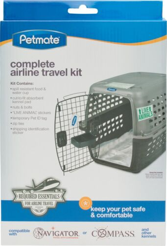 Petmate Complete Airline Travel Kit Keep Pets Safe /& Comfortable