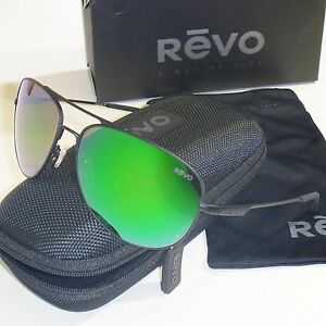 944e01310ab Image is loading Authentic-Revo-Windspeed-Polarized-Sunglasses -Matte-Black-Green-