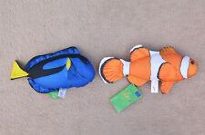 CLOWNFISH & BLUE TANG (Nemo & Dory) pillow stuffed cushion soft toy 29cm 28cm