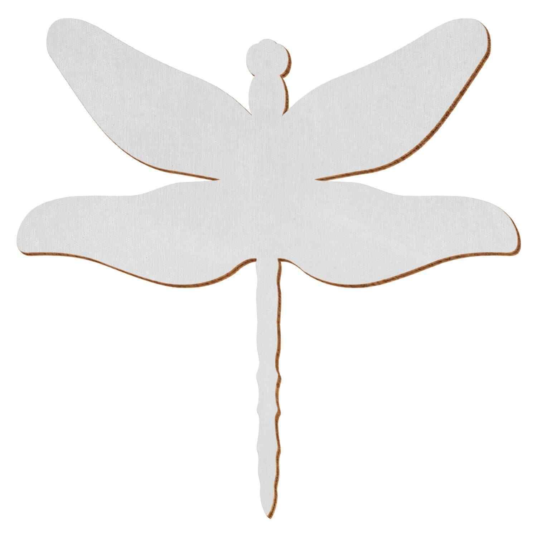 Silberne Holz Libelle - 3-50cm Flügelspannweite Streudeko Basteln Deko Tischdeko | Spielen Sie Leidenschaft, spielen Sie die Ernte, spielen Sie die Welt  | Mittlere Kosten