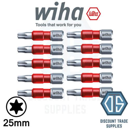 Wiha Maxxtor T25 - Pack of 10 - 29mm Torx Long Impact Driver Screw Bit 36825