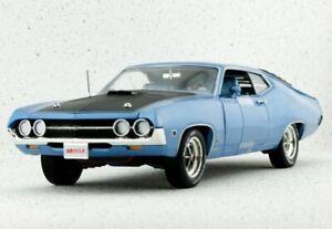 FORD Torino Cobra - 1970 - bluemetallic - Auto World 1:18
