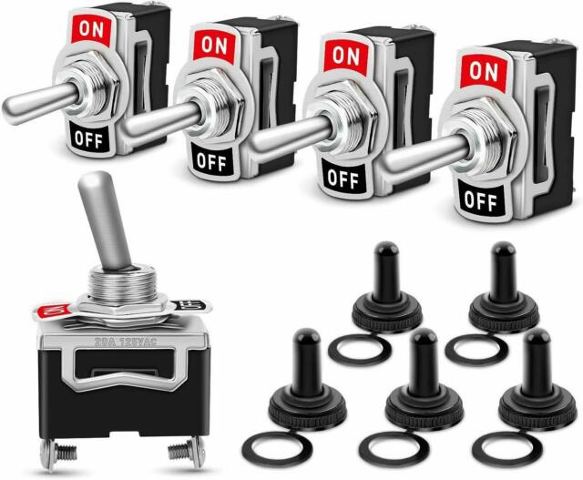 NICOLIE 5 Unids 6A//250V 10A//125V On-Off Spst Redondo Barco Rocker Interruptor Impermeable 2-Pin