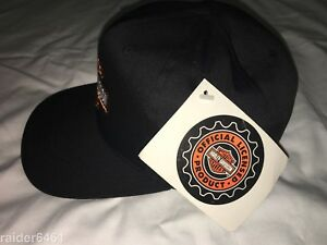 NWT Harley Davidson Men s Baseball Cap Hat SnapBlack Embroidered Bar ... 50ca8d57917e