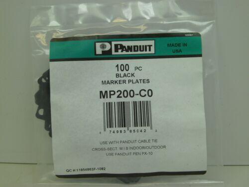 CB 100 NIB PANDUIT BLACK CABLE MARKER PLATES MP200-CO MP200-C0 FREE SHIPPING