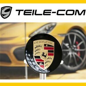ORIG-Porsche-911-718-Cayenne-Panamera-Radzierdeckel-konkav-schwarz-hochglanz