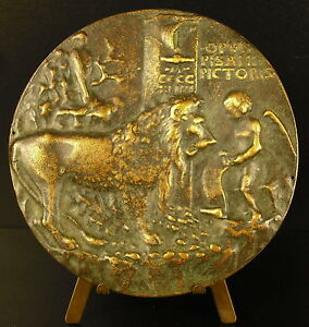 Medal-One-Love-Sign-le-Chant-in-the-Lion-Sc-Pisanello-Antonio-Pisano-Medal