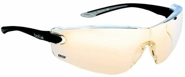 safety glasses specs spectacles with FREE storage pouch Bolle Spider ESP