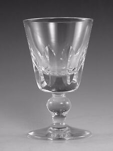 St Louis Crystal Jersey Design Small Wine Glass Glasses 4 3