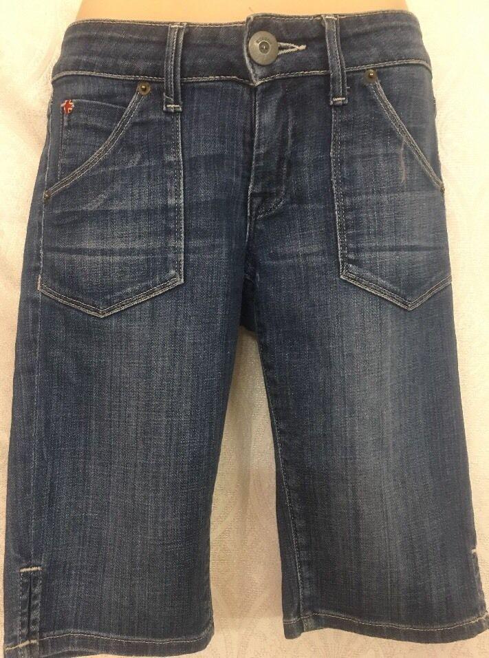 Hudson Bermuda Denim Shorts bluee Size 25
