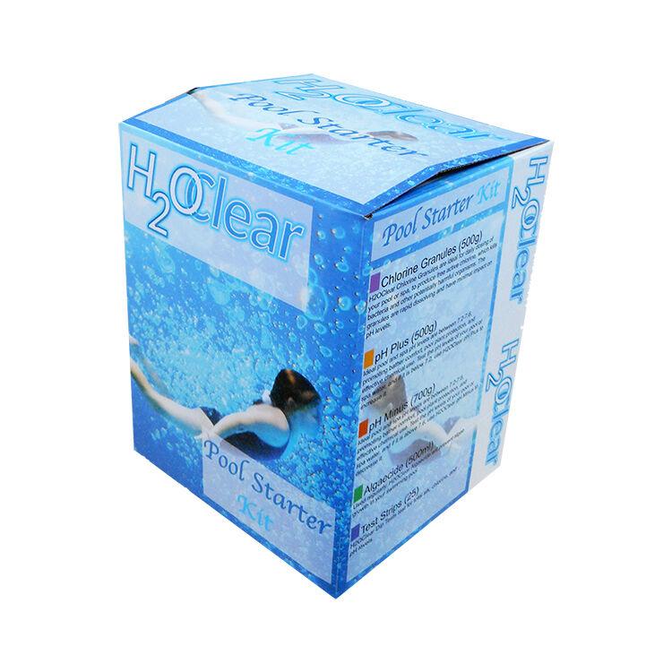 Clear H2O Agua Piscina Jacuzzi Kit de arranque productos químicos de tratamiento
