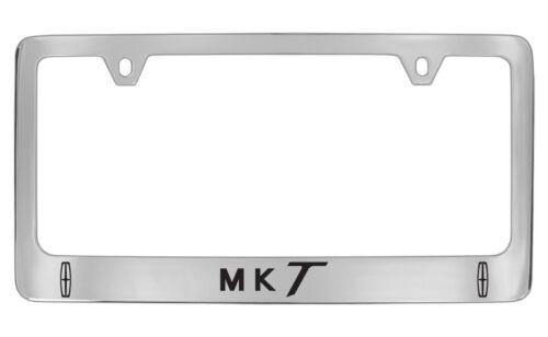 Lincoln MKT Two Logos Chrome Plated Metal License Plate Frame Holder