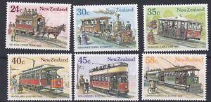 100% De Qualité Nouvelle-zélande 1985 Vintage Trams Set Neuf Sans Charnière