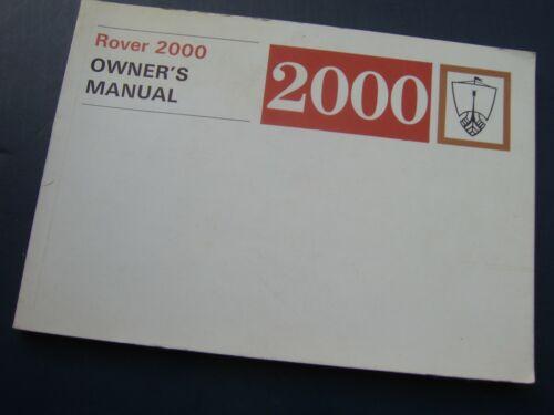parte no 607833 ROVER P6 2000/'70 su libretto di istruzioni//manuale