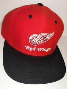 bf9885eb0ac New Detroit Red Wings Mens OSFA Black Red Snapback Flatbrim Reebok ...