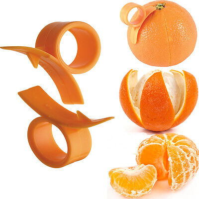 Orange Peelers Pair Easy Skin Removing New Handheld Kitchen Use Easy Remove Tool