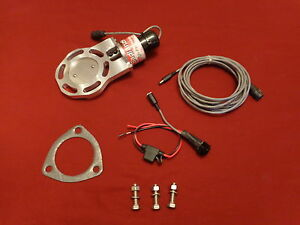 """BadlanzHPE Electric Exhaust Cutout /""""Low Profile/"""" SINGLE 3.0/"""" 76mm  5 YEAR WNTY!"""