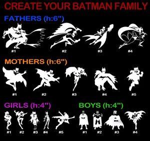 Create Batman Family Vinyl Decal Sticker Car Window Wall Dad Mom - Window stickers for cars family