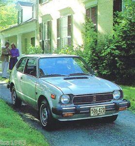 Image Is Loading 1978 Honda Brochure Catalog Accord Cvcc Station Wagon