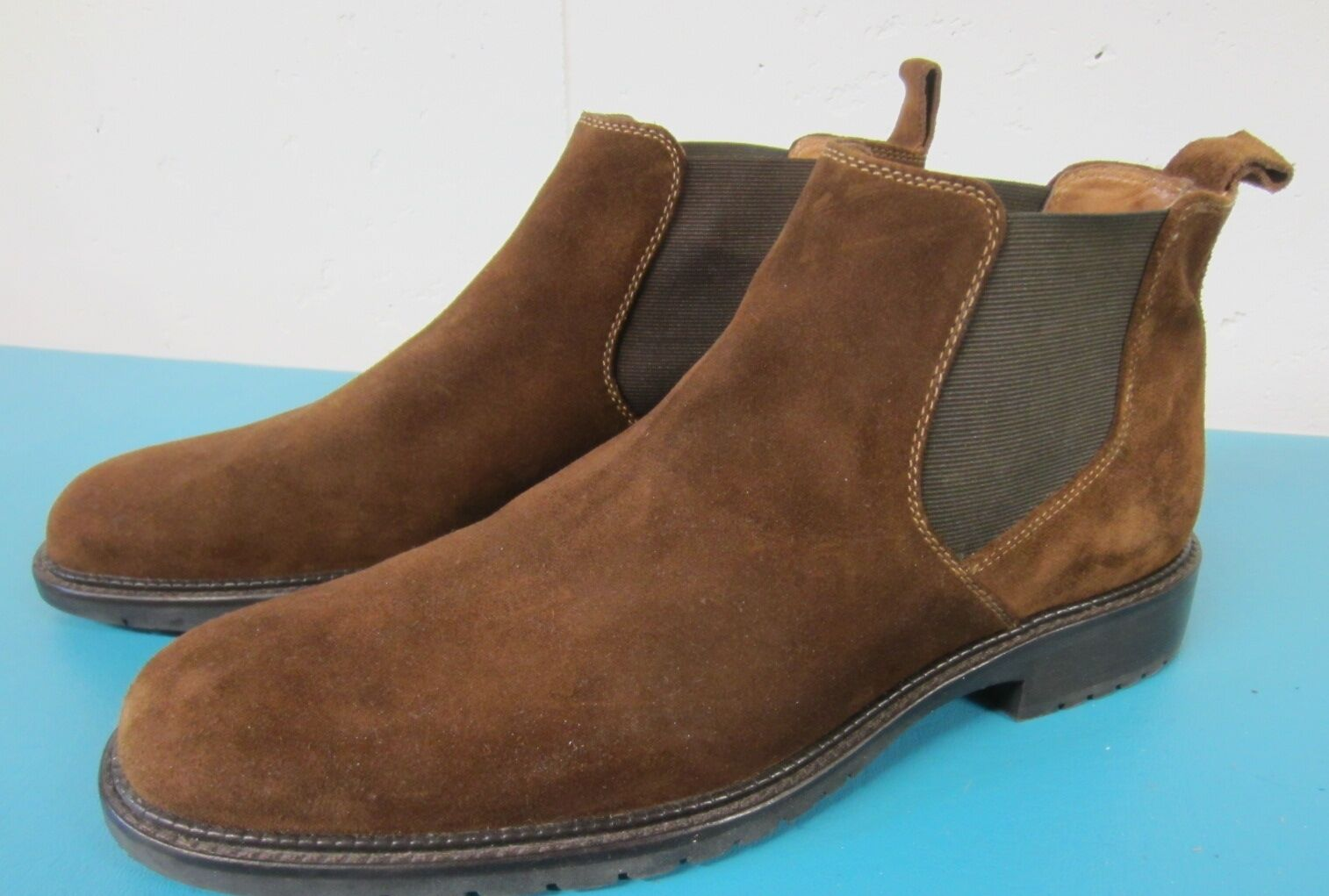 JOHNSTON & MURPHY Cinnamon Brown SUEDE Elastic Gusset Jodhpur Ankle Boots Sz 9