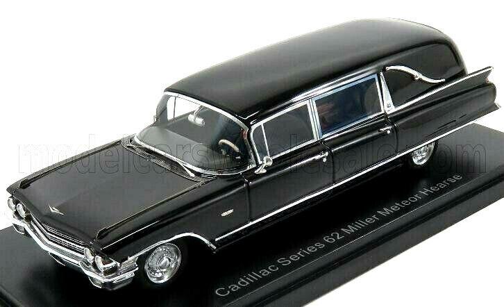 Merveilleux MODELCAR illac Série 62 MILLER METEOR corbillard 1962-noir - 1 43