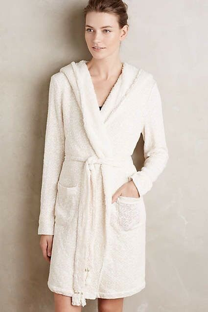 NWOT Anthropologie Himalayan Hooded Robe By Saturday Sunday Beige
