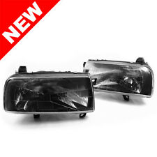 93-99 VW Jetta/Vento MK3 E-Code Black Smoke Euro Headlights w/ Glass Lenses