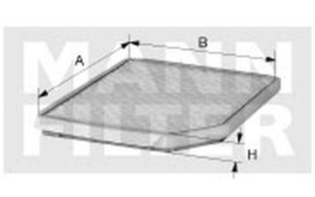 MANN-FILTER Filtro de polen Para MERCEDES-BENZ CLA Coupe CUK 26 007