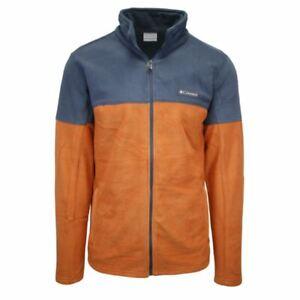 Columbia Men's Orange & Grey Basin Trail Full Zip Fleece Jacket (Retail $55) 820