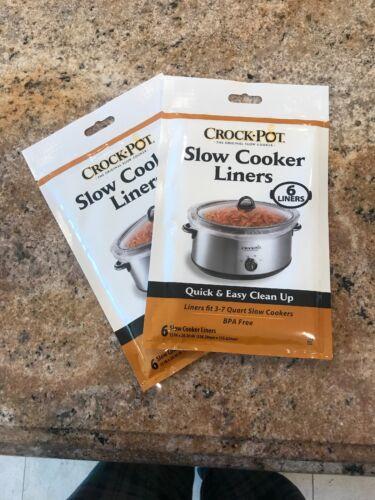 Crock Pot Slow Cooker Liners Soup Chili Bags 6ct 13 X 20 30 3 Qt To 7 Qt Kitchen Dining Bar Small Kitchen Appliances