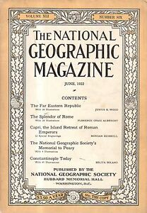 1922-National-Geographic-June-Chita-Siberia-Constantinople-Rome-Capri-Peary