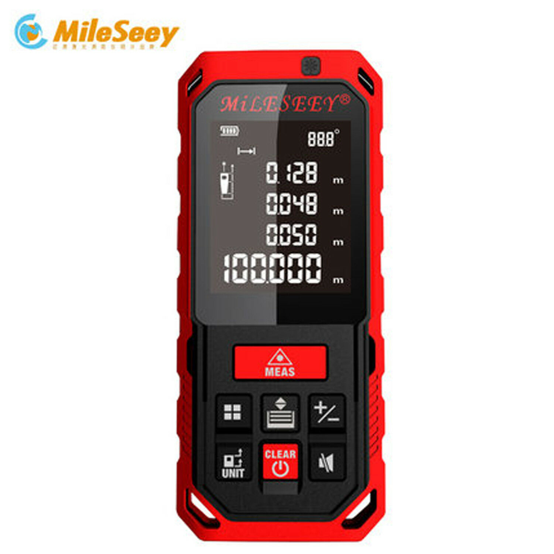 Mileseey S2 Handheld measure 40M 60M 80M 100M  Laser Distance Meter Rangefinder