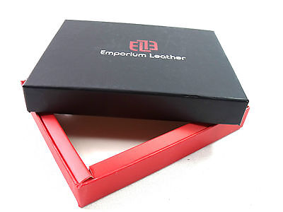 Leather Emporium Wallet Purse Credit Card Gift Present Presentation Box