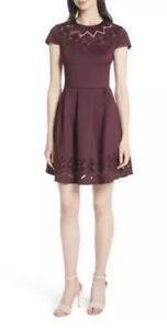 62ec6cd7c2 Image is loading Ted-Baker-London-mesh-and-lace-trim-skater-