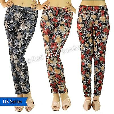 Skinny Animal Leopard Floral Print Comfy Sexy Stretchy Pants Jeggings Leggings