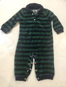 80d78f23 Details about CHAPS Infant Boy Size 9 Mo Green Blue Stripes Bodysuit One  Piece Ralph Lauren