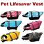 thumbnail 1 - Pet Swimming Safety Vest Dog Life Jacket Reflective Stripe Preserver Puppy Coat