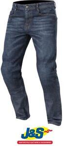 Alpinestars-Duple-Kevlar-DuPont-Denim-Motorcycle-Jeans-CE-Rough-Blue-Was-169-99
