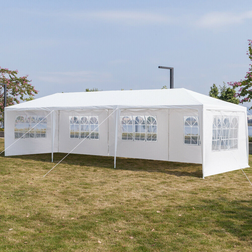 3 x 3m   6m   9m Full  Sides Waterproof Tent with Spiral Tubes White Sun Shield  classic fashion