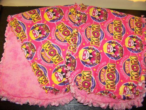 "CLEARANCE Handmade Baby /""Rag/"" Burp Cloths Set of 2 Super Mom"
