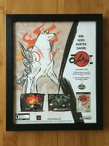 Okami Framed Print Ad/Poster Authentic Official PS2 Playstation 2 Wall Art Decor