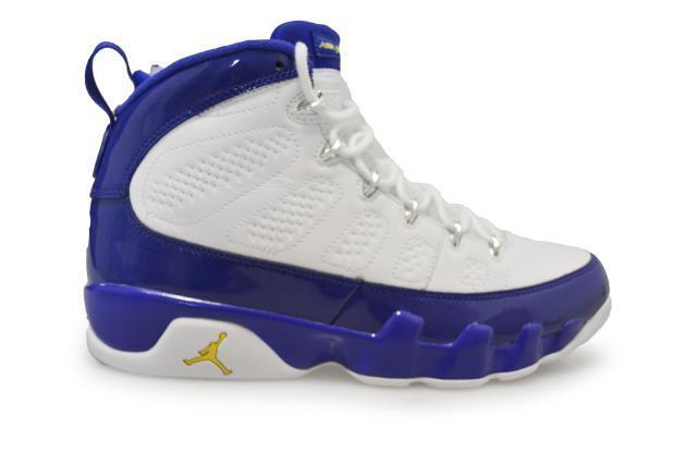Mens Nike Air Jordan 9 Retro Rare- 302370 121 - Weiß Blau Trainers