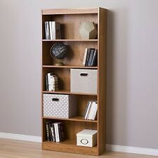 South Shore 10132 Axess 5-Shelf Bookcase Country Pine NEW
