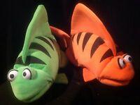 Lot 2 19 Blacklight Fish Puppets Standard-school Muppet Pro Puppet Revelation