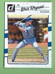 new product 751c1 08354 Details about KRIS BRYANT 2017 DONRUSS #68 1990 STYLE THROWBACK UNIFORM  VARIETY CHICAGO CUBS