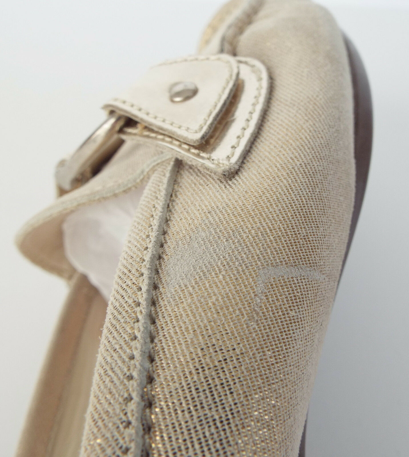 AGL ATTILIO GIUSTI LEOMBRUNI Size 6.5 gold Shimmer Mules shoes shoes shoes 36 1 2 31bd54