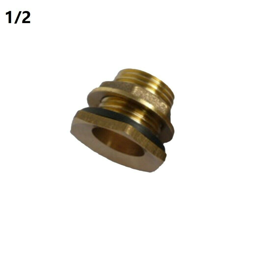 2Pcs 1/2or3/4Water Tank Tap Connector Rain Buckets Brass Bib Connection Tool.